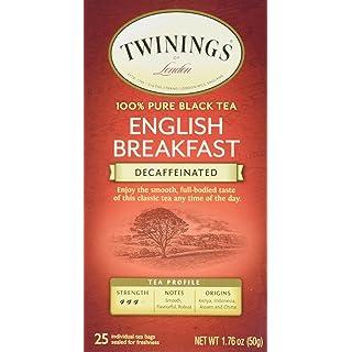 Twinings Classics Naturally Decaffeinated English Breakfast Tea - 25 Tea Bags
