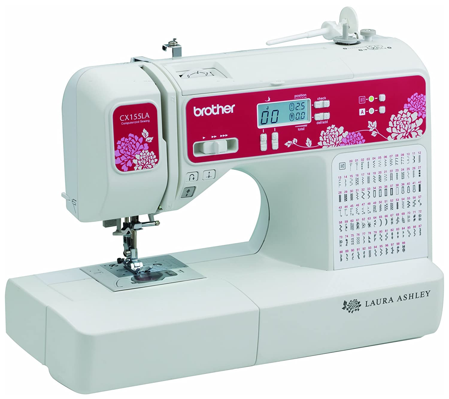 Brother Sewing Laura Ashley CX155LA Limited Edition Sewing & Quilting Machine with Built-in Sewing Font