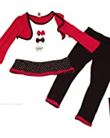 Fisher Price Girl's Bow Pant Set Red