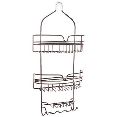 Honey-Can-Do BTH-03299 Hanging Shower Caddy Organizer, Bronze