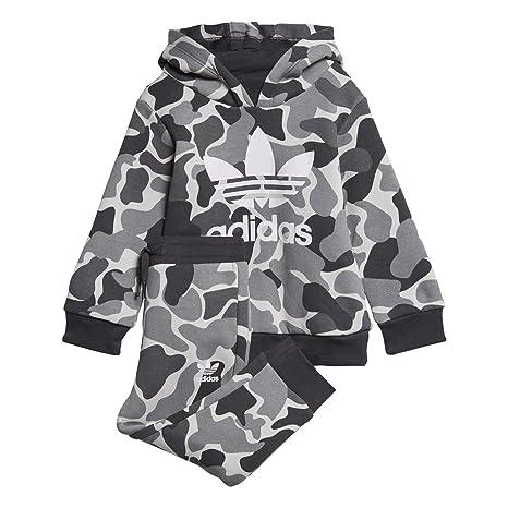 adidas I C TRF FZ Hood Baby Jogginganzug bunt (MULTCO/Carbon)