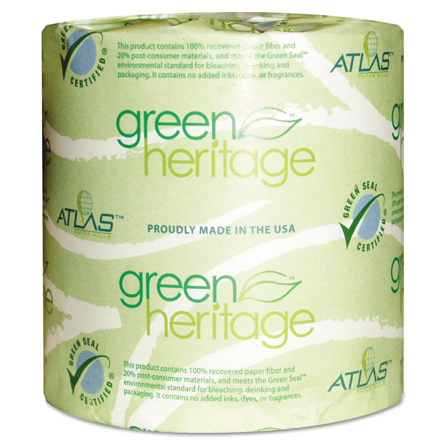 Green Heritage 276 2-Ply Bathroom Tissue, 4.1'' Length x 3.1'' Width, (Case of 96 Rolls, 500 per Roll) by Green Heritage