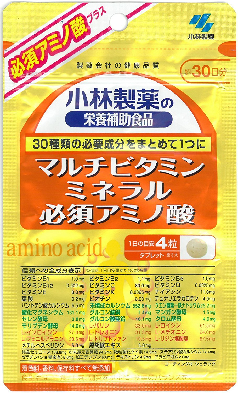 小林製薬の栄養補助食品 マルチビタミン ミネラル 必須アミノ酸 約30日分 120粒×6個 B079WSF3JM