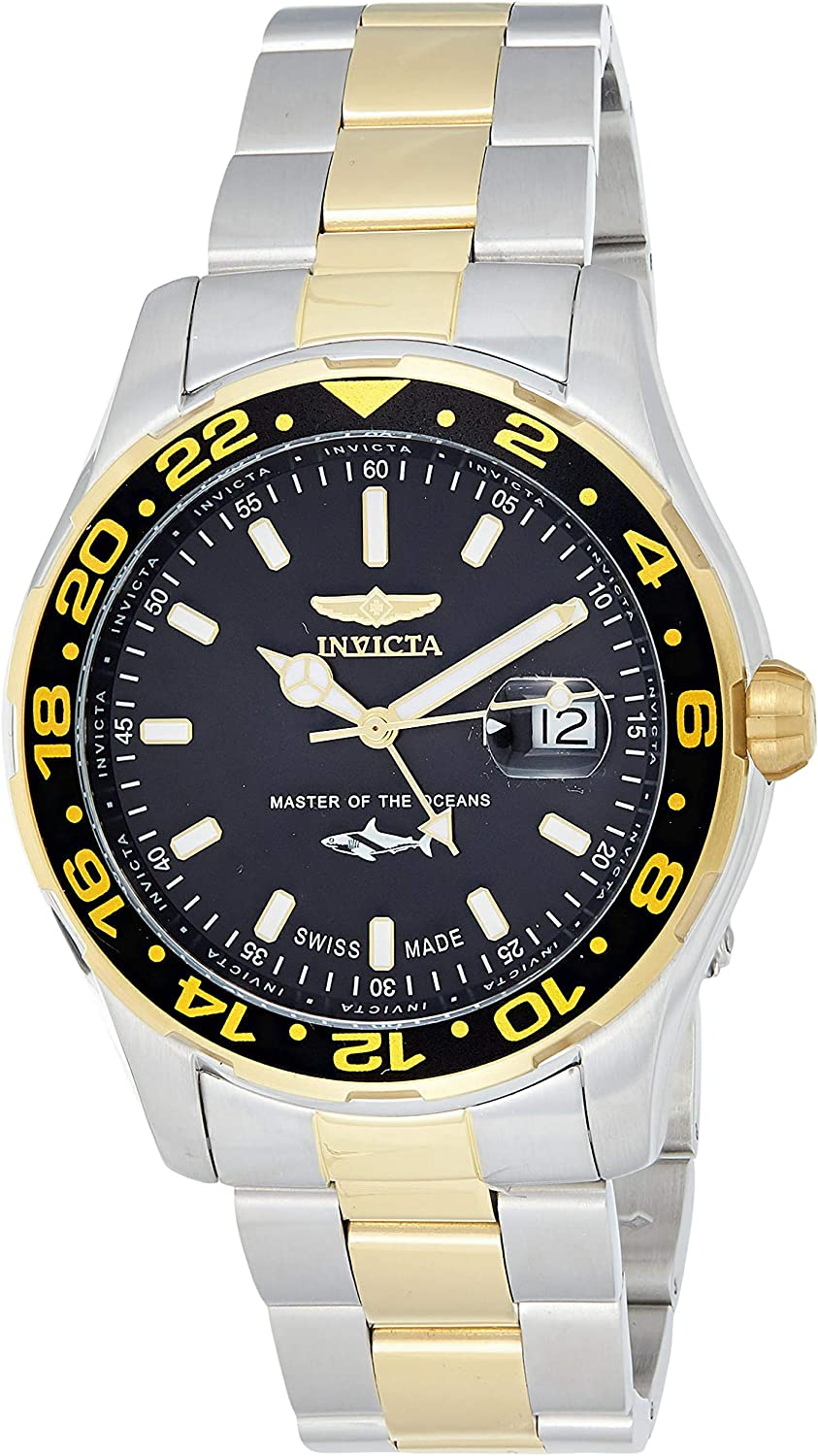 Invicta Men's Pro Diver Quartz Watch with Stainless-Steel Strap, Two Tone, 22 (Model: 25825)