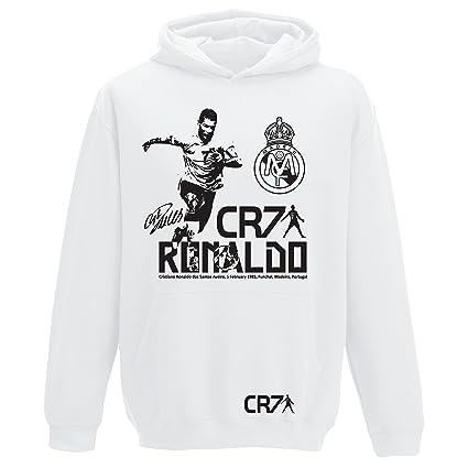 Sudadera con capucha para niños y adultos, diseño de Ronaldo, Real Madrid.,