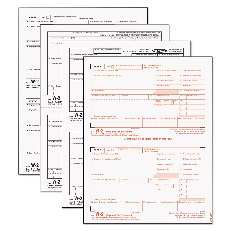 TOP22990 - Tops W-2 Tax Form