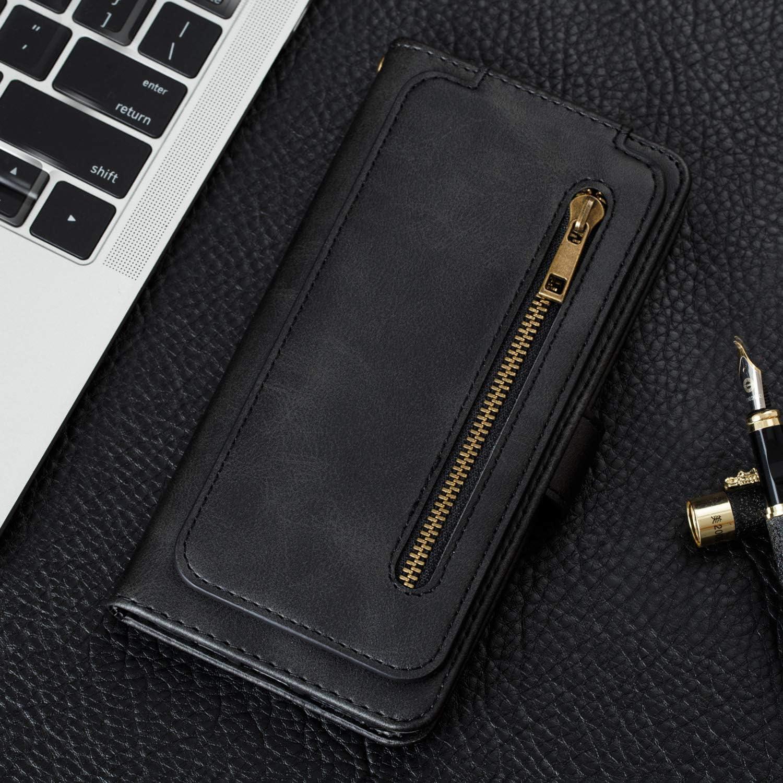 A30S H/ülle Leder Schutzh/ülle Brieftasche mit Kartenfach Klappbar Magnetisch Sto/ßfest Handyh/ülle Case f/ür Samsung Galaxy A50 Lomogo Galaxy A50 A50S LOYTE040105 Rot