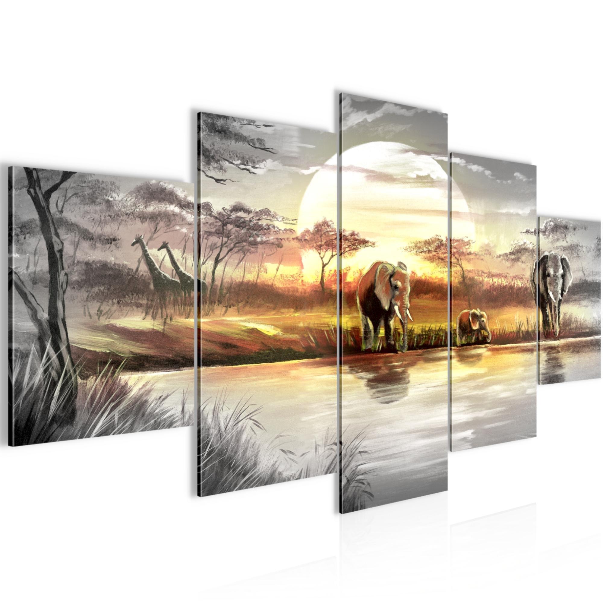 AuBergewohnlich Bilder Afrika Elefant Wandbild 200 X 100 Cm Vlies   Leinwand Bild XXL  Format Wandbilder Wohnzimmer
