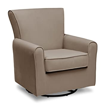 Merveilleux Delta Children Elena Nursery Glider Swivel Rocker Chair, Toast Velvet
