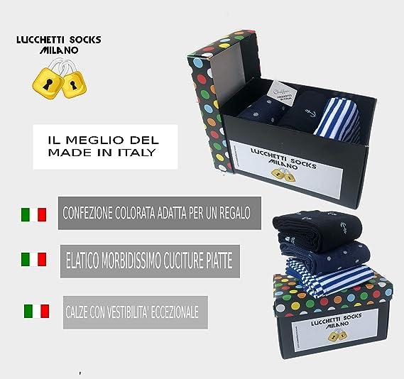 MADE IN ITALY ART 6 CALZINI lunghi UOMO POMPEA IN COTONE LEGGERO CESATE
