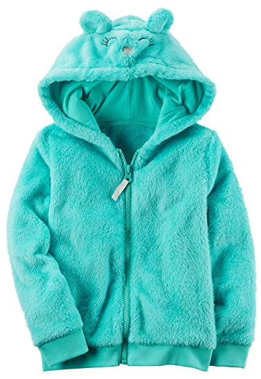 9c8451f51 Amazon.com  Carter s Girls Fuzzy Mouse Zip-Up Hoodie  Baby