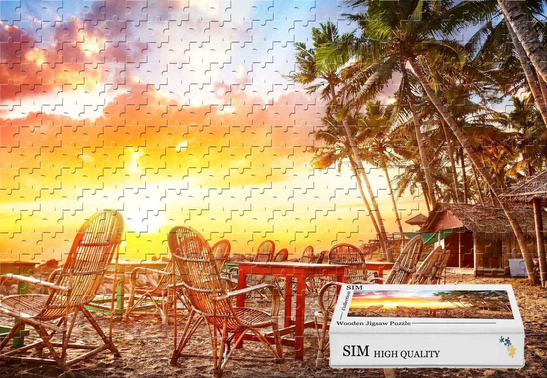 【予約受付中】 Sim、木製マテリアル、GoodのためのパズルジグソーパズルPlayer inボックスgift-wrap- Beach Sunset Palm B07FXJ72XL Palm Trees House椅子テーブル Trees、20.6 X 15.1インチ – 500ピースジグソーパズル B07FXJ72XL, スノーボードSTOMP:8f8641ec --- 4x4.lt
