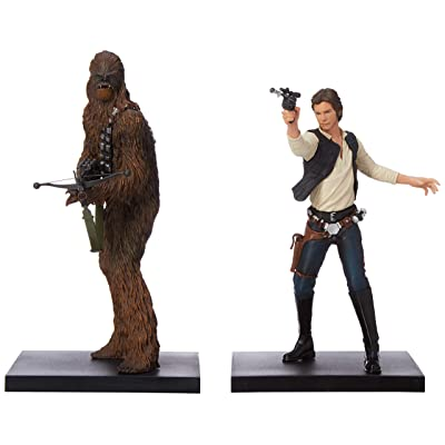 Kotobukiya Star Wars Han Solo and Chewbacca Artfx+ Statue: Toys & Games