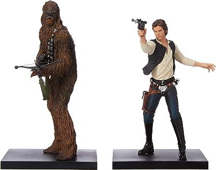 Amazon.com: Figura de Han Solo y Chewbacca de Star Wars ...