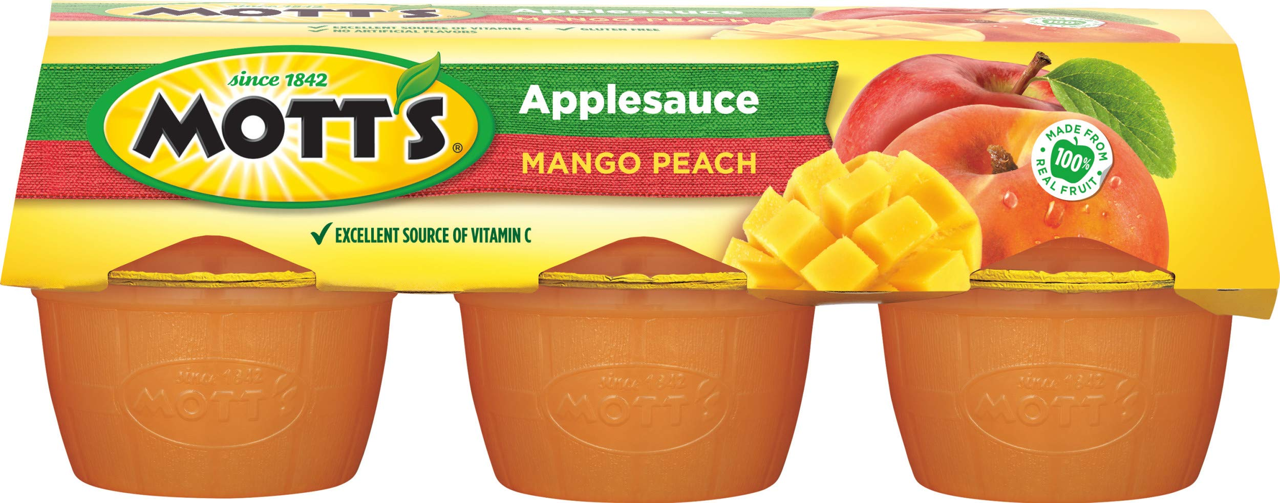 Motts Fruitsations Mango Peach Apple Sauce, 24 oz