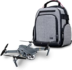 USA Gear Drone Backpack Case Compatible with DJI Mavic Pro, Spark Mini, Ryze Tello, Yuneec Breeze and More - Customizable Interior, Weather Resistant, Storage for Batteries and Accessories