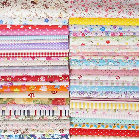 Misscrafts Cotton Craft Fabric Bundle Squares Patchwork Pre-Cut Quilt Squares for DIY Sewing Scrapbooking Quilting Dot Pattern 50PCS 30X30cm Quilting Fabric