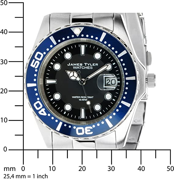 James Tyler Herren Armbanduhr Quarz Chronograph Mit Edelstahl Armband Jt705 4 Amazon De Uhren