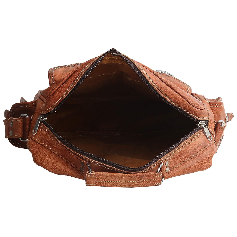 Unisex Goat Leather Luggage Messenger Vintage Bag Handmade Handbag