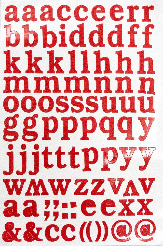 Amazon.com: Jazzstick Small Lower-Case Alphabet Letters Decorative ...