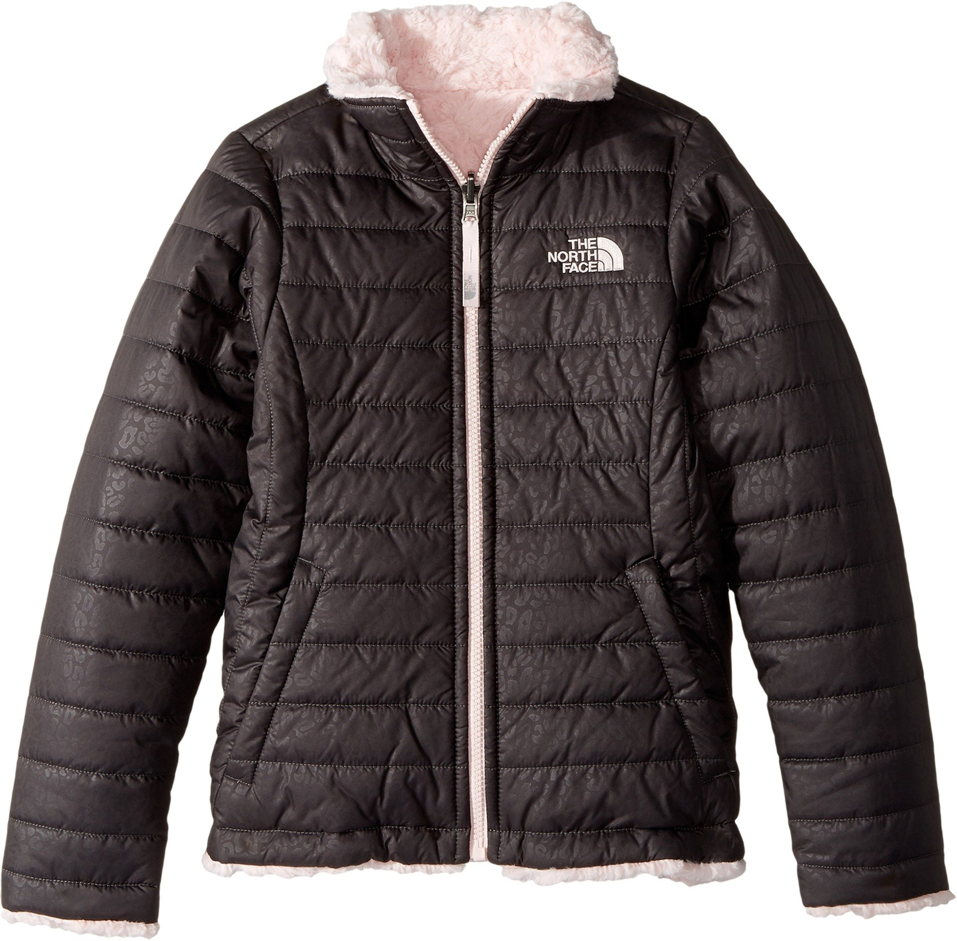 The North Face Girl's Reversible Mossbud Swirl Jacket - Graphite Grey - S (Past Season)