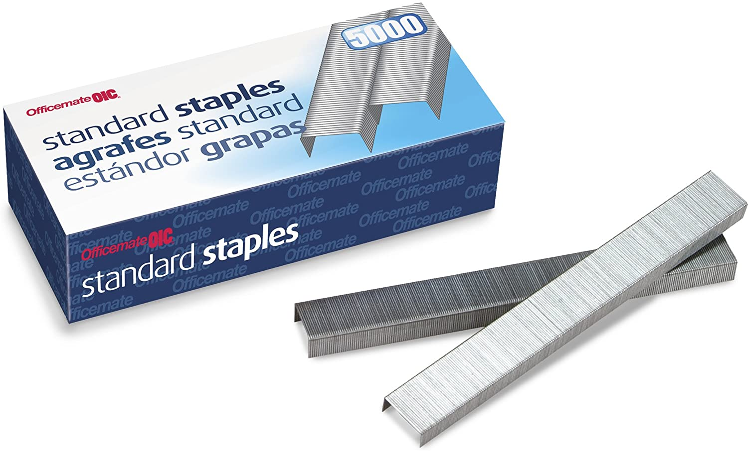 Officemate Standard Staples, 210 per Strip, 20 Sheets Capacity, 5,000 per Box (91900)