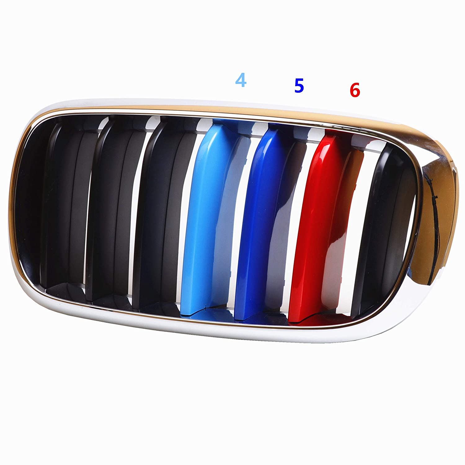 for BMW 2009-2017 Z4,9 Beams Jackey Awesome Exact Fit //////M-Colored Grille Insert Trims for 2009-2017 BMW Z4 with M-Performance Black Kidney Grill