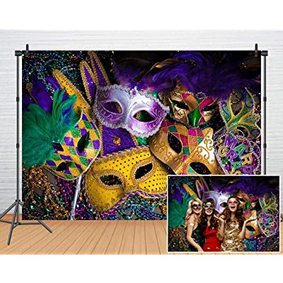 Mardi Gras Theme Photography Backdrop Masquerade Backgrounds Birthday Dancing Party Photo Booth for Wedding Bachelorette Party Decorations Banner 61: Toys & Games