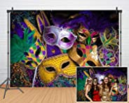 Mardi Gras Theme Photography Backdrop Masquerade Backgrounds Birthday Dancing Party Photo Booth for Wedding Bachelorette Part