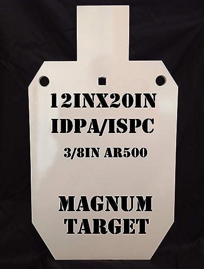 8in NRA Pistol Shooting Targets 3//8in Thk Steel Target 1pc Metal Target Set