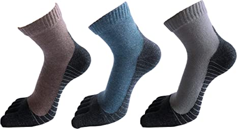 Mens Womens Five Finger Toe Socks Breathable Sock Sports Cotton Crew Dress Sock