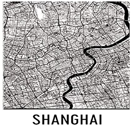 Shanghai Map Of China.Amazon Com Shanghai Poster Shanghai Art Print Shanghai Wall Art