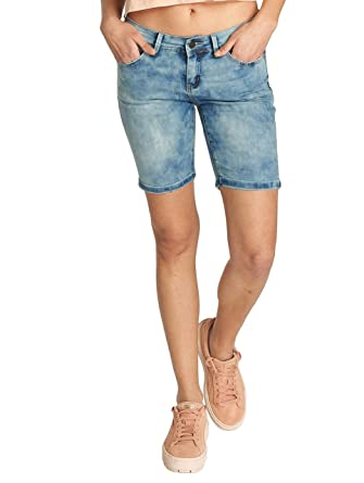 Sublevel Damen Jeans Shorts   Denim Bermudashorts Dark Blue   Schicke Kurze  Hose im Used Washed Look  Amazon.de  Bekleidung 8c13c05b6c