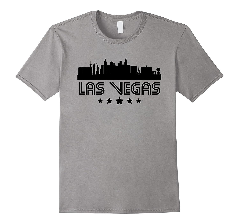 Las Vegas Nevada Skyline Retro Style T-Shirt-CD