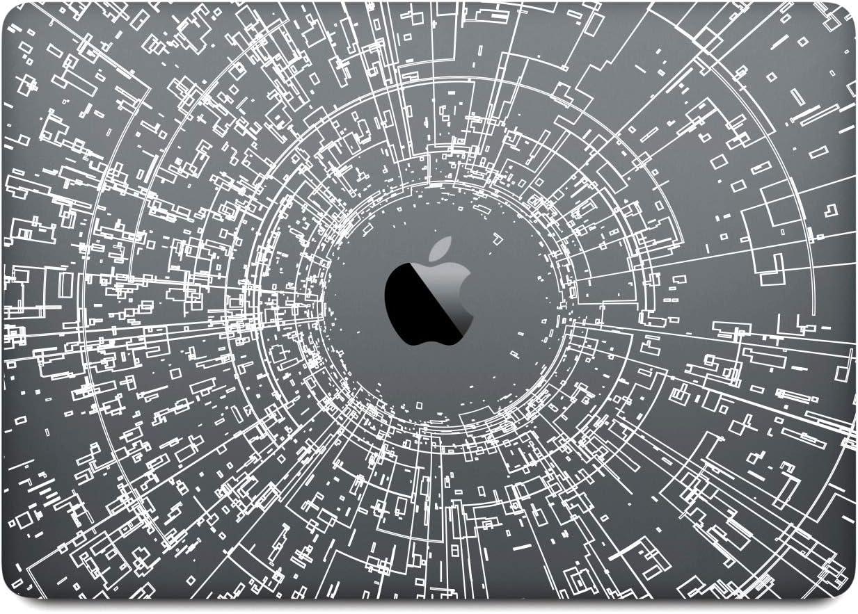 DowBier MacBook Decal Vinyl PVC Transparent Skin Sticker Cover Anti-Scratch Skin (Pro 13 inch A1989 A1706 A1708, Pattern B)