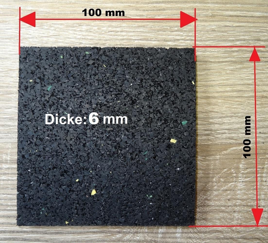 Terrassenbau Gummigranulat Pads Terrassenbaupad Gummipad Unterkonstruktion Auflagepads Unterlage 100 St/ück Terrassenpads 100 x 100 x 6 mm Bautenschutzmatte