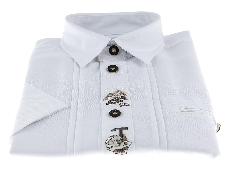 Anna Collection Herren Trachtenhemd mit Kurzarm - 3 verschiedene Farben