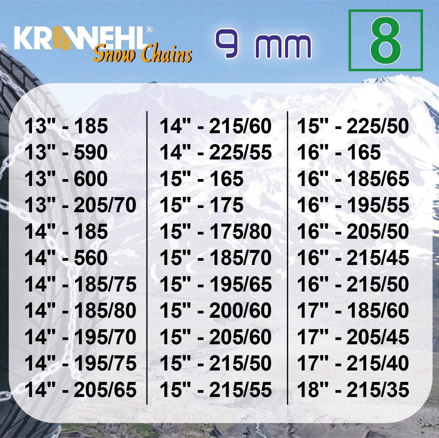 Cha/înes De Neige Type Rombo Groupe 9-3402.0011059 Cha/înes Voiture Anti-D/érapant /Ø 9 Mm KRAWEHL avec Tendeur M/écanique