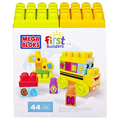 Mega Bloks First Builders ABC Spell School Bus: Toys & Games