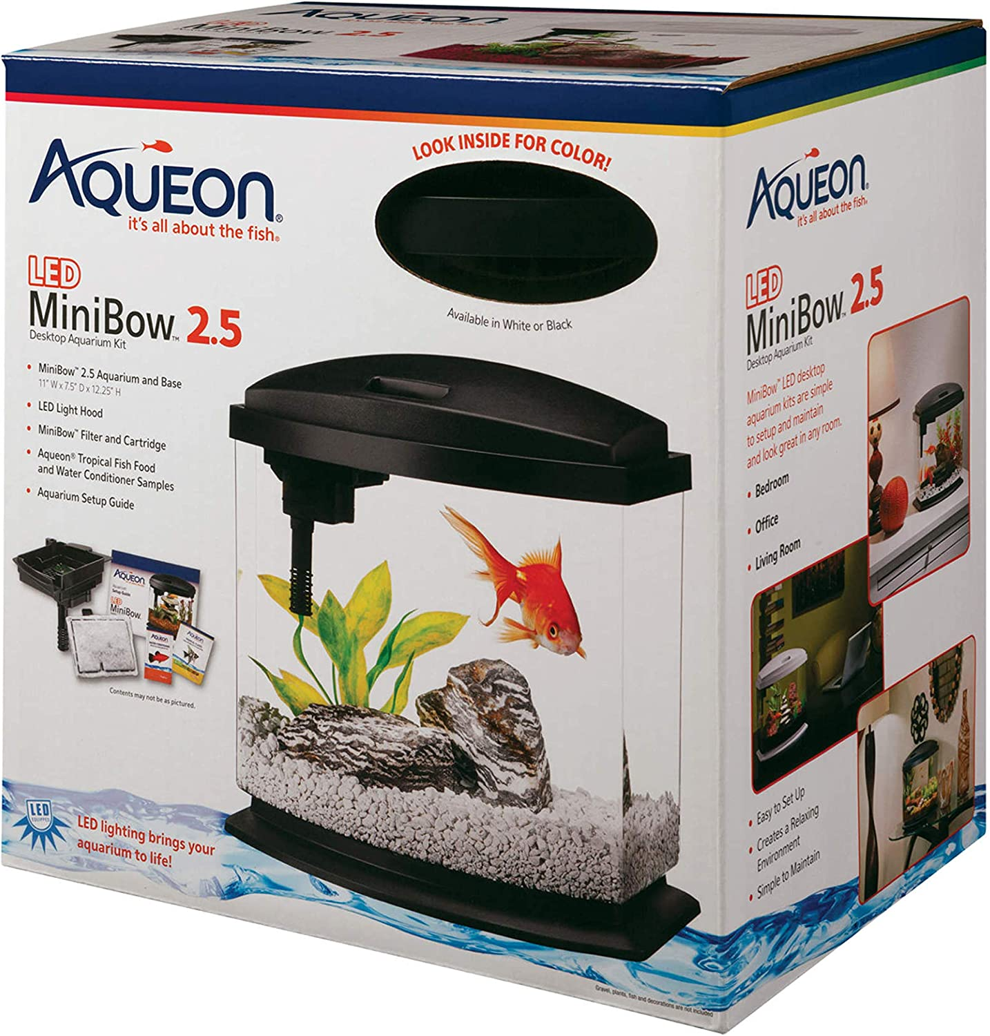 Aqueon Betta Bow Aquarium Starter Kit