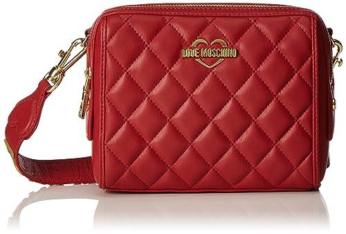 Love Moschino Borsa Nappa Pu Trapuntata Rosso - Borse Baguette Donna ... 4fed9c27473