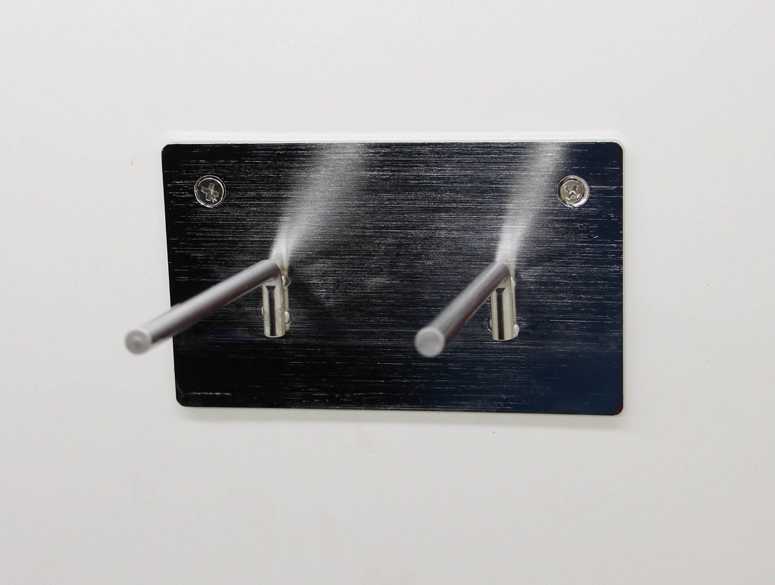 FixtureDisplays Set of 2 Pcs 2-PEG Lead Apron Wall-mount Hook Hanger 15685