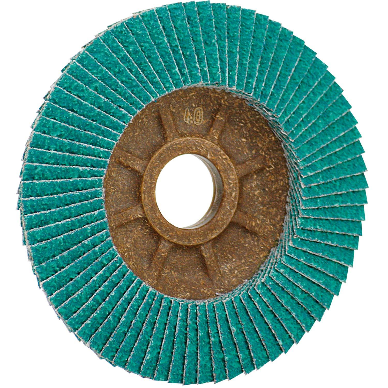 CS Unitec 93616 PLANTEX Cool Top Flap Disc for Grinding Stainless Steel, 4'' Diameter, 5/8'' Arbor, 60 Grit (Pack of 30)