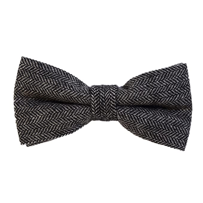 Men's Vintage Christmas Gift Ideas DonDon Men's checkered plaid tweed look bow tie 4.72 x 2.36 - 12 x 6 cm already tied and completely adjustable  AT vintagedancer.com