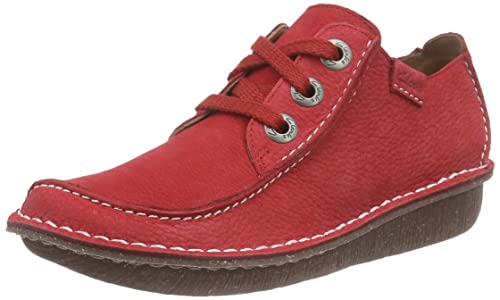 Clarks Funny Dream Laceup Shoes Color Red  Women