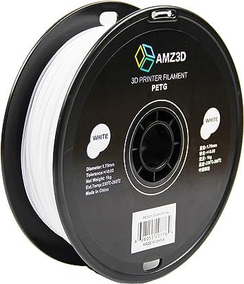 - Dimensional Accuracy +//- 0.03mm AMZ3D 1.75mm Black ABS 3D Printer Filament 1kg Spool 2.2 lbs