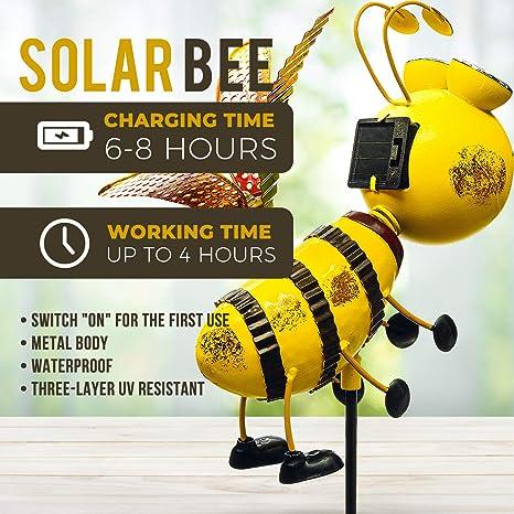 Naisidier Solarbetriebene Stake Lichter Artificial Lotus-Blume Solarleuchten Au/ßen Stake Lampen F/ür Patio-Yard-Dekoration Rosa 1pc