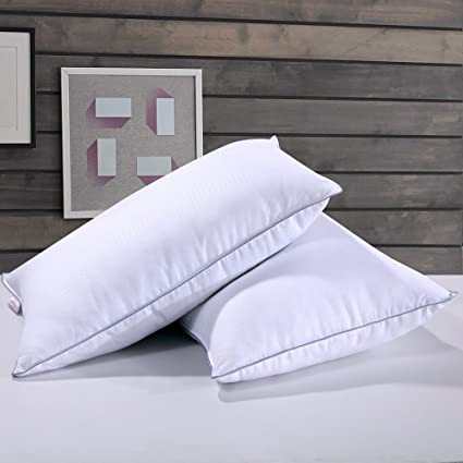 down pillow fill cover pillows cotton com power dp set duck amazon puredown white