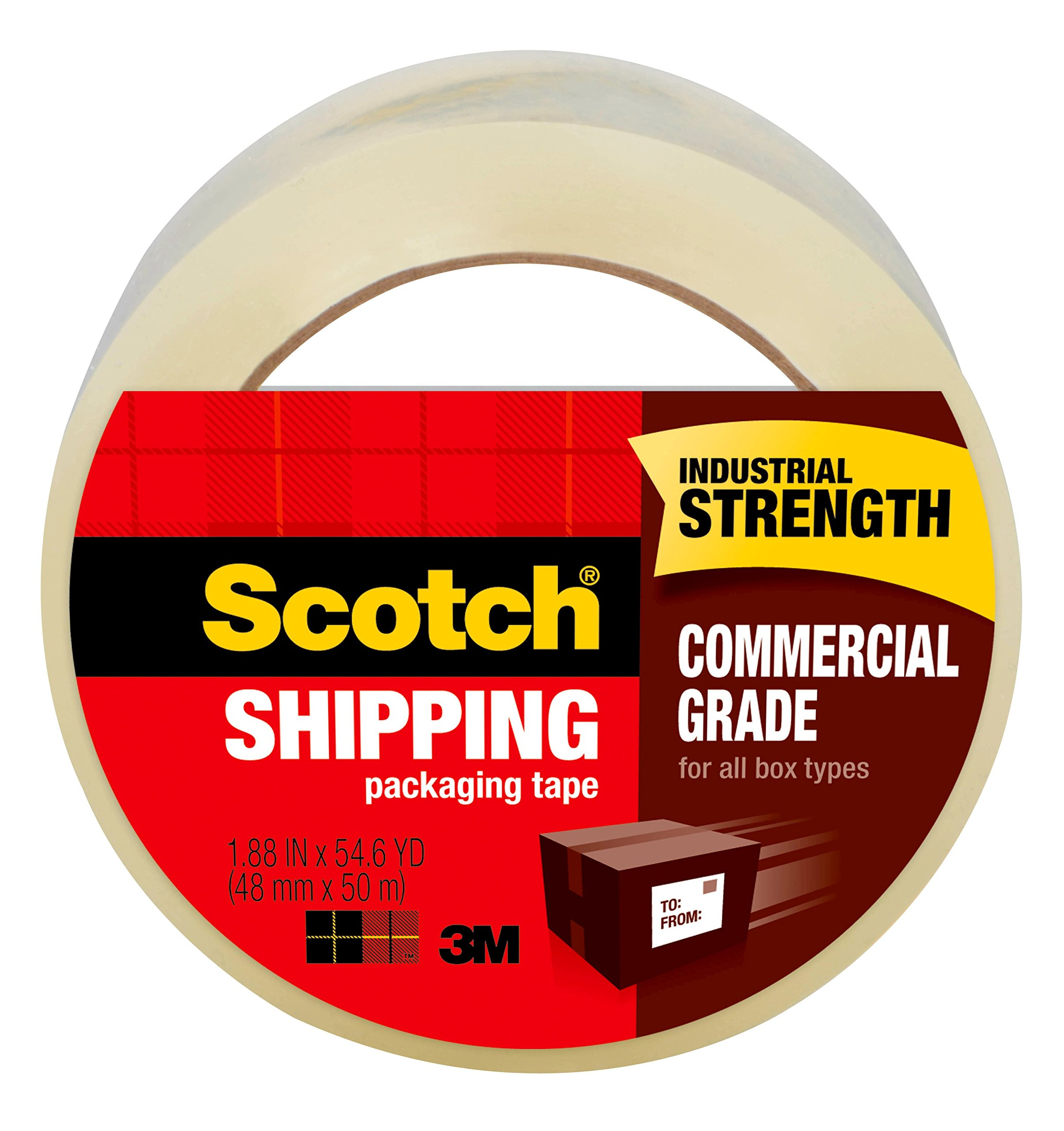 Scotch Commercial Grade Shipping Packaging Tape, 1.88 in x 54.6 yd, Case Value 48-Pack (3750-CS48) by Scotch (Image #1)