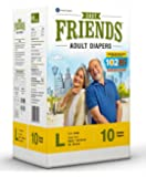 Friends Adult Diaper Basic Limited Edition 102 Not Out 10's Pack (Large)